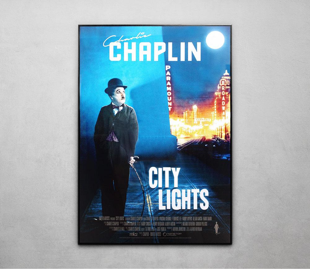 Charlie Chaplin Framed Poster