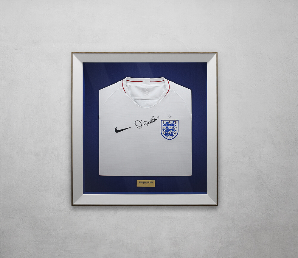David Beckham Signed England Shirt