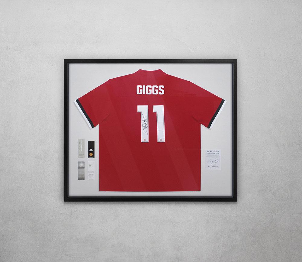 Ryan Giggs Football Jersey Framed