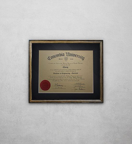 Framed Certificate