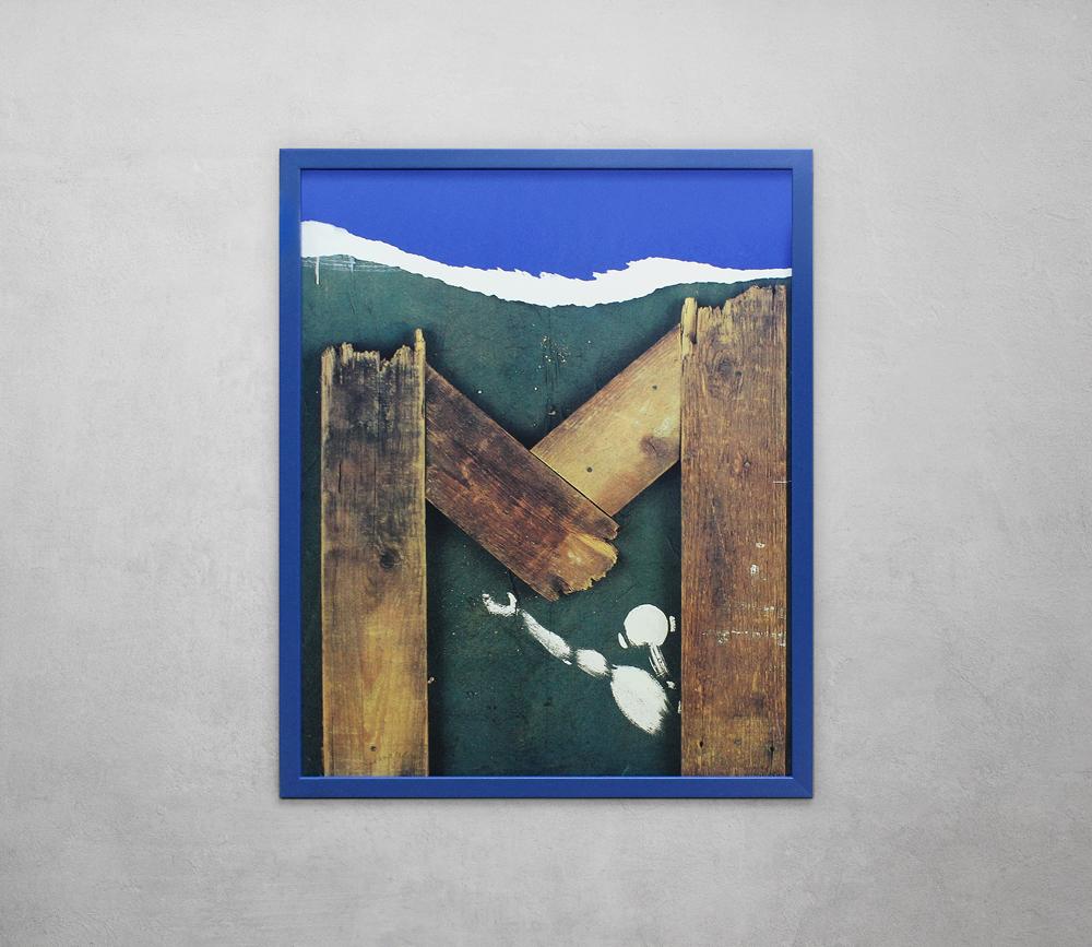 Multi media in blue frame